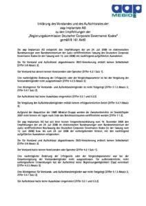 Entsprechenserklärung 2006