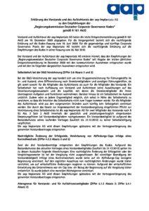 Entsprechenserklärung 2010