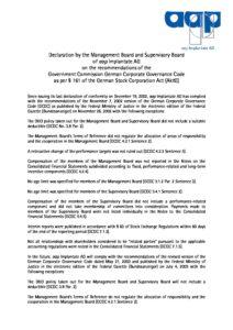 Declaration of Conformity 2003