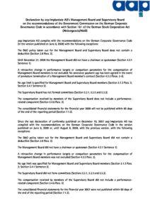 Declaration of Conformity 2008