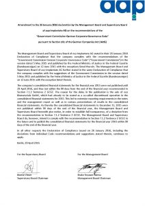 Declaration of Conformity 2016 - Amendment