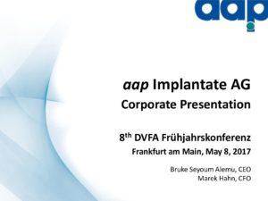 8. DVFA Frühjahrskonferenz in Frankfurt am Main vom 8.5.2017
