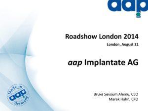 Roadshow London 2014, August