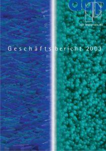 Geschäftsbericht 2003