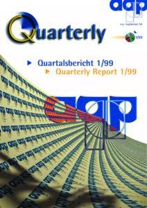Quartalsbericht 1 1999