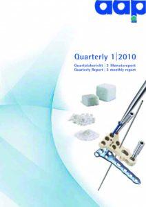 Quartalsbericht 1 2010