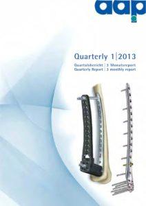 Quarterly Statement 1 2013