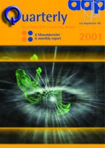 Quartalsbericht 2 2001