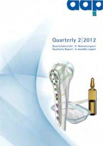 Quartalsbericht 2 2012