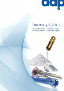 Quarterly Statement 2 2013