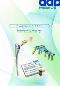 Quartalsbericht 3 2005