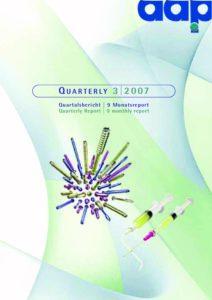 Quarterly Statement 3 2007