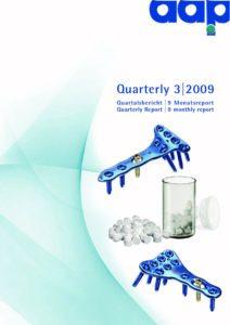 Quartalsbericht 3 2009