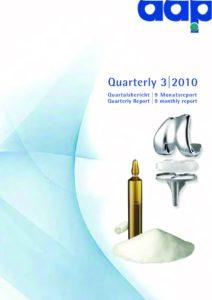 Quartalsbericht 3 2010