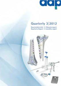 Quarterly Statement 3 2012