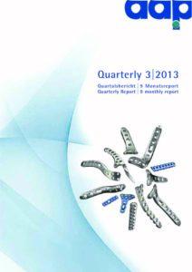 Quarterly Statement 3 2013