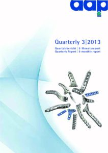 Quartalsbericht 3 2013