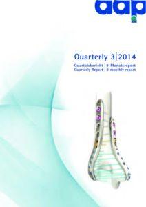 Quartalsbericht 3 2014