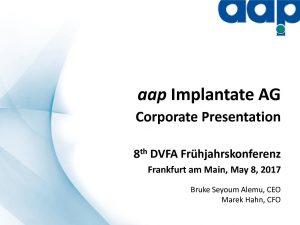 8. Frühjahrskonferenz in Frankfurt am Main on May 8, 2017