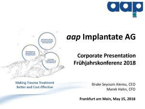 Frühjahrskonferenz 2018 in Frankfurt am Main vom 15.05.2018