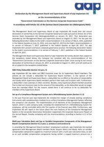 Declaration of conformity 2018