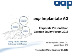 Deutsches Eigenkapitalforum 2018 in Frankfurt am Main vom 27.11.2018