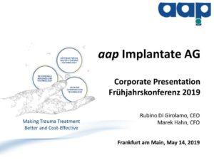 Frühjahrskonferenz 2019 in Frankfurt am Main on May 14, 2019