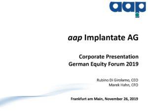 Deutsches Eigenkapitalforum 2019 in Frankfurt am Main vom 26.11.2019