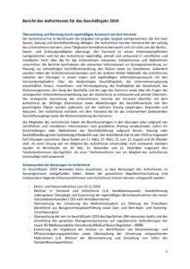Bericht des Aufsichtsrats für das Geschäftsjahr 2019