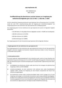 Vergütungssystem Aufsichtsrat HV 2021